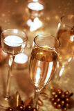 Sparkling Champagne Glasses (celebration) Royalty Free Stock Photo