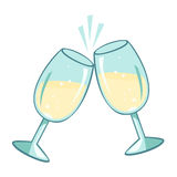 Sparkling champagne glasses. Royalty Free Stock Image