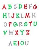 Sparkling Christmas Alphabet Stock Photos