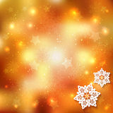 Sparkling Christmas Background. With Star Snowflake royalty free illustration
