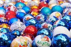 Sparkling Christmas balls Stock Image