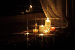 Sparkling Christmas candles Royalty Free Stock Photography