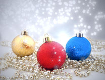 Sparkling Christmas decorations Stock Photos