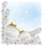Sparkling Christmas decorations Stock Photo