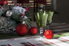 Sparkling Christmas Glasses Royalty Free Stock Photography