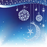 Sparkling Christmas greeting card Stock Photo