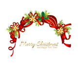 Sparkling Christmas Greeting Card Stock Images