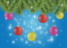 Sparkling christmas or new year background Stock Photos