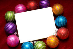 Sparkling Christmas ornaments Royalty Free Stock Images