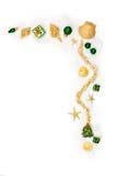 Sparkling Christmas ornaments Royalty Free Stock Photos
