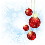 Sparkling Christmas Red Crystal Ball Stock Photography