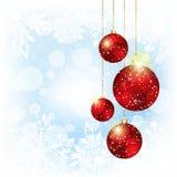 Sparkling Christmas Red Crystal Ball stock photography
