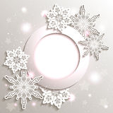 Sparkling Christmas Snowflake Background royalty free stock photography