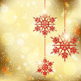 Sparkling Christmas Snowflakes Background stock photography