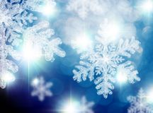 Sparkling Christmas Snowflakes Royalty Free Stock Photos