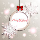 Sparkling Christmas Star Snowflake Royalty Free Stock Photos