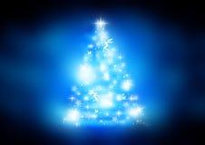 Sparkling Christmas tree stock illustration