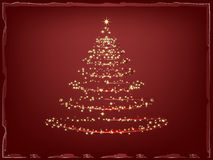 Sparkling Christmas tree Stock Photo