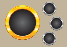 Sparkling circles. Sparkling gold and silver frame circles Royalty Free Stock Photography