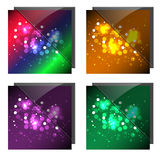 Sparkling Colorful Backgrounds. With Glass Royalty Free Stock Photo