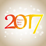 Sparkling Colorful New Year Card, Cover or Background Design Template - 2017 Stock Photography