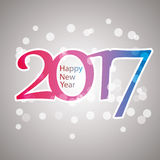 Sparkling Colorful New Year Card, Cover or Background Design Template - 2017 Stock Images
