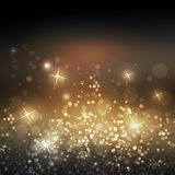 Sparkling Cover Design Template with Abstract Blurred Background for Christmas, New Year Designs Stock Photo