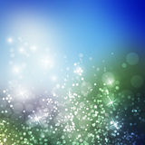 Sparkling Cover Design Template with Abstract Blurred Background for Christmas, New Year Designs Royalty Free Stock Photos