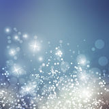 Sparkling Cover Design Template with Abstract Blurred Background for Christmas, New Year Designs Royalty Free Stock Image
