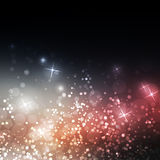 Sparkling Cover Design Template with Abstract Blurred Background Royalty Free Stock Photo