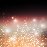 Sparkling Cover Design Template with Abstract Blurred Background Stock Photography