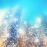 Sparkling Cover Design Template with Abstract Blurred Background Stock Photo