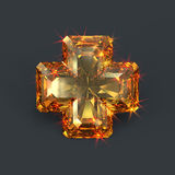 Sparkling cross jewel holy glare Royalty Free Stock Photography
