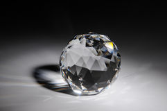 Sparkling crystal on black background Royalty Free Stock Photos