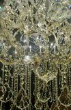 Sparkling crystal chandelier Royalty Free Stock Images
