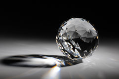 Sparkling crystal on gradient background Stock Images