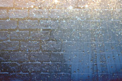 Sparkling crystal on wall Royalty Free Stock Photo