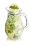 Sparkling cucumber lemonade Stock Image