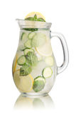 Sparkling cucumber lemonade Royalty Free Stock Photo