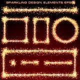 Sparkling Design Elements Stock Images