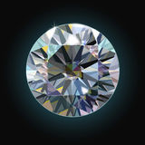 The sparkling diamond on a black background faceted crystal. Vector Stock Image