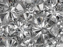 Sparkling diamond macro closeup and kaleidoscope Royalty Free Stock Photo