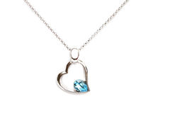 Sparkling diamond necklace Stock Image