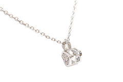 Sparkling diamond necklace Stock Photography