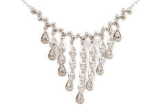 Sparkling diamond necklace Stock Photography