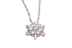 Diamond necklace Stock Image