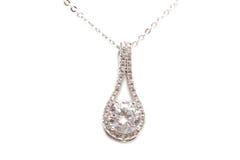 Sparkling diamond necklace Royalty Free Stock Photos