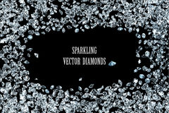 Sparkling diamonds background Stock Images