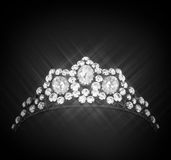 Sparkling diamonds crown Stock Images