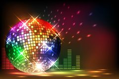 Sparkling disco ball. Night party Stock Photo